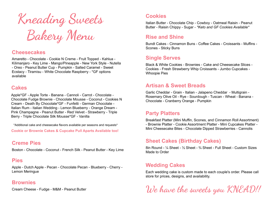 Kneading Sweets Menu (1)